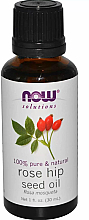 Парфумерія, косметика Ефірна олія шипшини - Now Foods Essential Oils 100% Pure Rose Hip Seed Oil