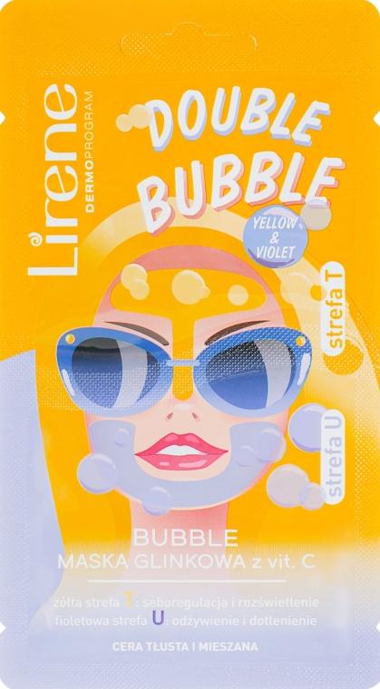 Глиняно-пузырьковая маска с витамином С - Lirene Double Bubble