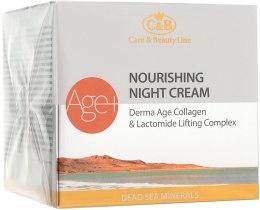 Духи, Парфюмерия, косметика Ночной питательный крем для лица - Care & Beauty Line Derma Age Collagen Nourishing Night Cream