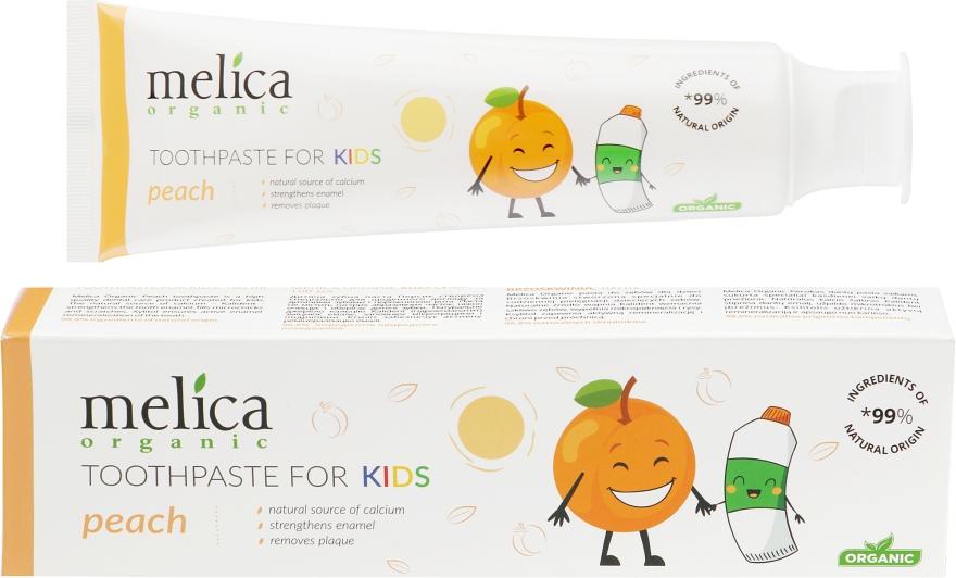 "Детская зубная паста ""Персик"" - Melica Organic Toothpaste For Kids Peach"