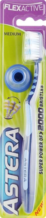 Зубная щетка, сине-голубая - Astera Flex Active Medium