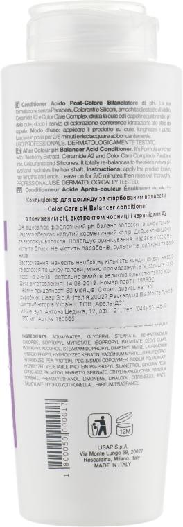 Кондиционер для ухода за окрашенными волосами - Lisap Top Care Repair Color Care pH Balancer Conditioner — фото N2