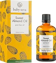Духи, Парфюмерия, косметика Масло сладкого миндаля для ухода за кожей взрослых и детей - Baby Teva Sweet Almond Oil