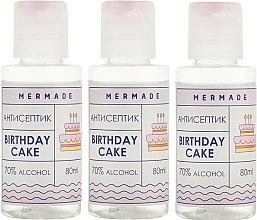 Духи, Парфюмерия, косметика Набор - Mermade Birthday Cake (hand/gel/3x80ml)