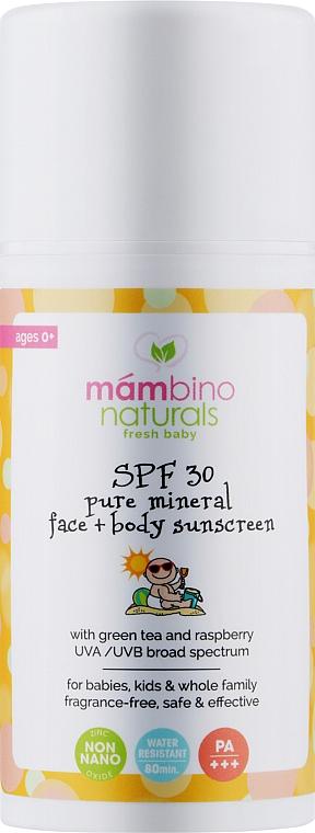 Детский натуральный минеральный солнцезащитный крем SPF 30 - Mambino Organics Children's natural mineral sunscreen SPF 30