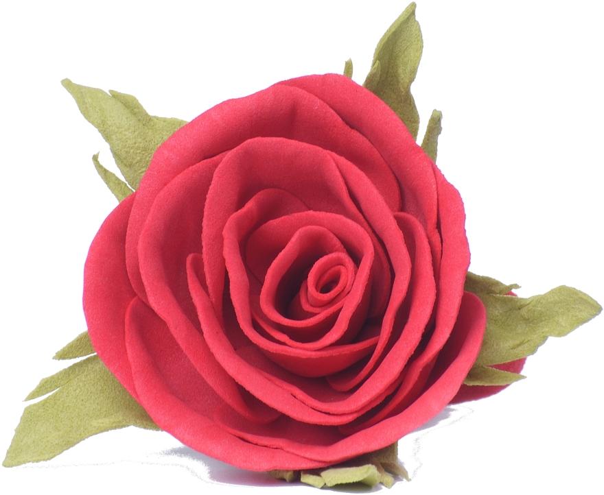 """Резинка для волос """"Красная роза"""", маленькая - Katya Snezhkova"""