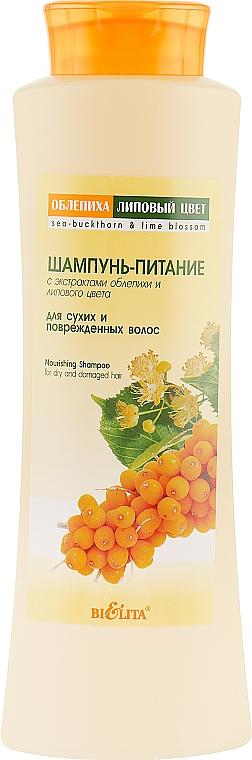 Шампунь-питание для сухих и поврежденных волос - Bielita Buckthorn & Lime Shampoo