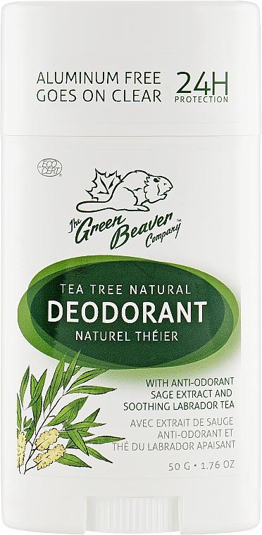 Дезодорант с ароматом чайного дерева - Green Beaver Tea Tree Deodorant
