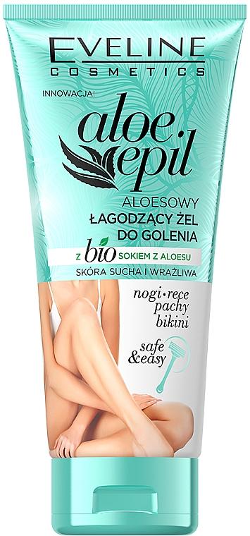 Успокаивающий гель для бритья - Eveline Cosmetics Aloe Epil