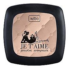 Духи, Парфюмерия, косметика Компактная пудра для лица - Wibo Je T'aime
