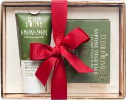 Духи, Парфюмерия, косметика Набор - Erbario Toscano Olive Complex Vegetable Soap & Hand Cream Set (soap/140g + h/cr/100ml)