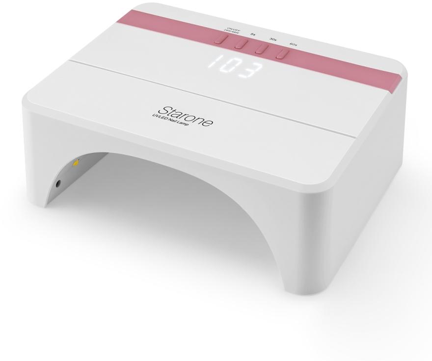 Лампа LED+UV, белая с розовым - Star LED+UV Lamp One 48W Rose