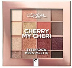 Палетка теней для век - L'Oreal Paris Cherry My Cherie Eyeshadow Palette — фото N1