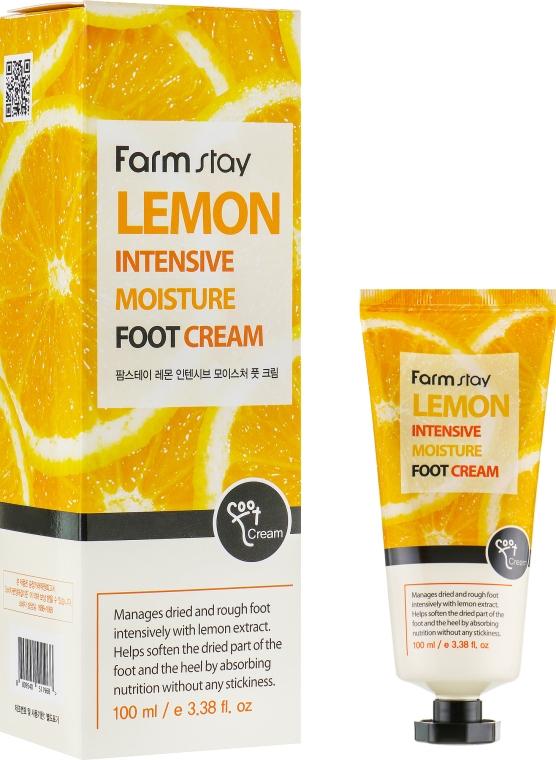 Крем для ног с экстрактом лимона - FarmStay Lemon Intensive Moisture Foot Cream