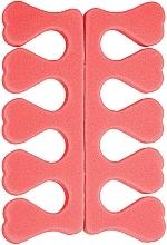 Духи, Парфюмерия, косметика Набор сепараторов для педикюра PF-19, коралловый - Puffic Fashion