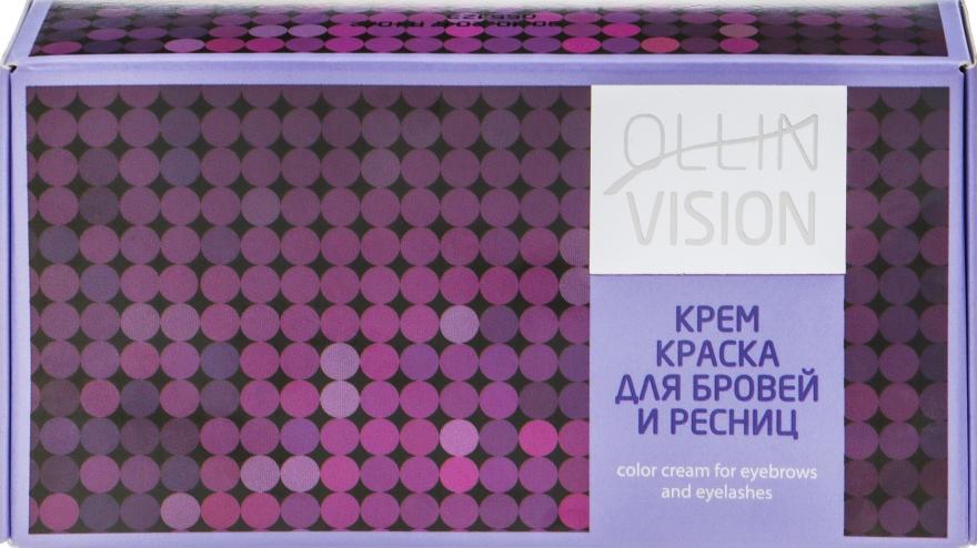Крем-краска для бровей и ресниц - Ollin Professional Vision Set Color Cream For Eyebrows And Eyelashes