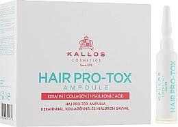 Парфумерія, косметика Ампули для ослабленого і пошкодженого волосся - Kallos Cosmetics Pro-Tox Hair Ampoule
