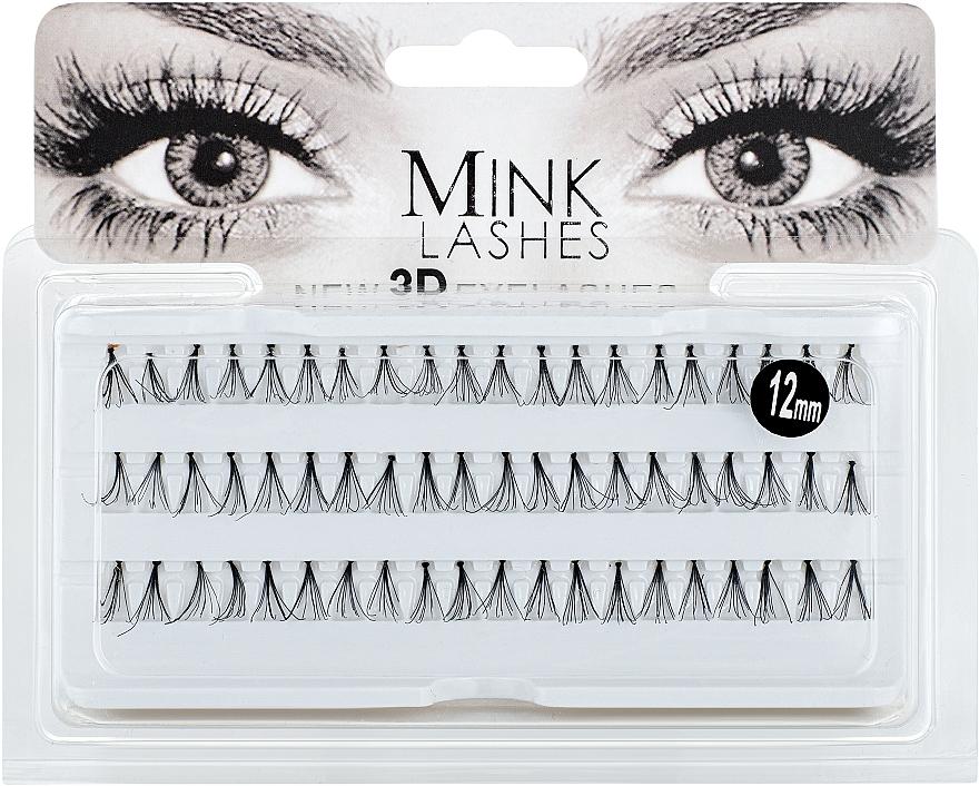 Накладные ресницы в пучках, R 45146, 12мм - Omkara Mink Lashes 3D 12mm