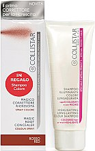 Духи, Парфюмерия, косметика Набор - Collistar Special Perfect Hair Magic Root Concealer Red (shm/100 ml + concealer/75ml)