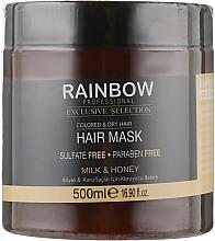 "Духи, Парфюмерия, косметика Маска для сухих и окрашеных волос ""Молоко и мед"" - Rainbow Professional Exclusive Colored & Dry Hair Mask"