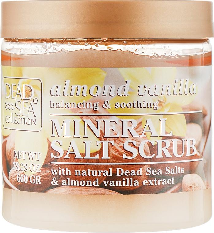Скраб для тела с минералами Мертвого моря, маслом миндаля и ванили - Dead Sea Collection Almond Vanilla Mineral Salt Scrub