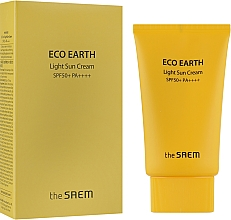 Духи, Парфюмерия, косметика Легкий солнцезащитный крем - The Saem Eco Earth Power Light Sun Cream SPF50+ PA+++