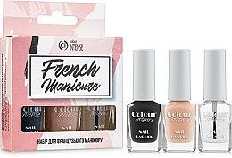 """Духи, Парфюмерия, косметика Набор """"Французкий маникюр"""" - Colour Intense French Manicure Kit (polish/5ml + polish/5ml + polish/5ml + stickers/24шт.)"""
