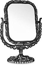 Духи, Парфюмерия, косметика Зеркало косметическое двухстороннее, 208-8, прямоугольное, черное - Элита