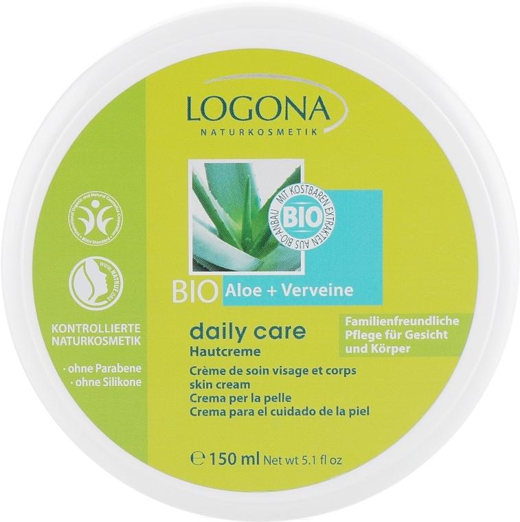 Крем для нормальной и сухой кожи лица и тела с Алоэ и Вербеной - Logona Daily Care Skin Cream Organic Aloe + Verbena