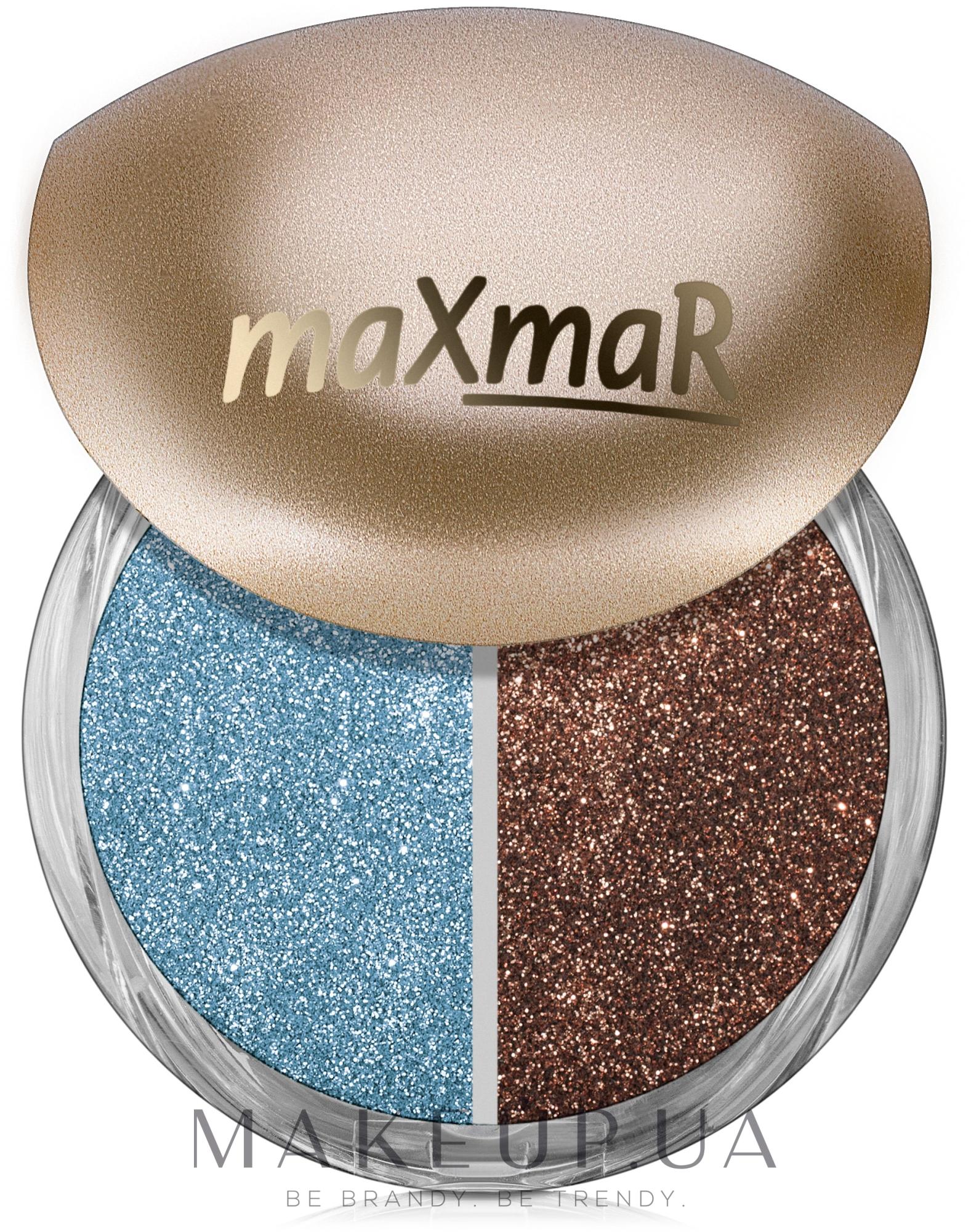 Рассыпчатые тени для век - MaxMar Duo Eyeshadow — фото 03