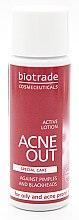 Духи, Парфюмерия, косметика Активный антибактериальный лосьон для жирной и проблемной кожи - Biotrade Acne Out Active Lotion (мини)