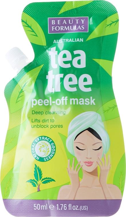 Маска-пленка для лица - Beauty Formulas Tea Tree Peel-Off Mask