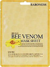 Духи, Парфюмерия, косметика Тканевая маска с пчелиным ядом - Beauadd Baroness Mask Sheet Bee Venom