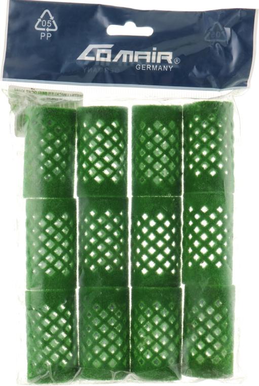 Бигуди металлические, короткие, зеленые, 24 мм - Comair