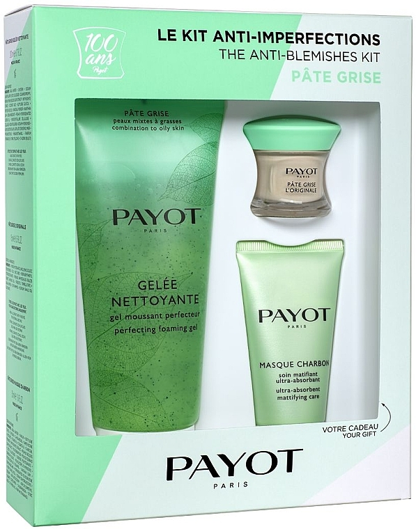 Набор - Payot Pate Grise The Anti-Blemishes Kit (cl/gel/200ml+ f/mask/50ml + f/pate/15ml)