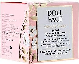 Духи, Парфюмерия, косметика Очищающая крем-маска 5в1 - Doll Face Sweet Rose 5-in-1 Cleansing Cold Cream