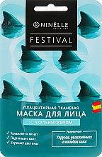 Духи, Парфюмерия, косметика Плацентарная тканевая маска для лица с акульим жиром - Ninelle Festival