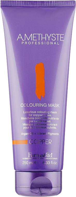 Тонирующая маска для окрашенных волос - Farmavita Amethyste Colouring Mask Copper