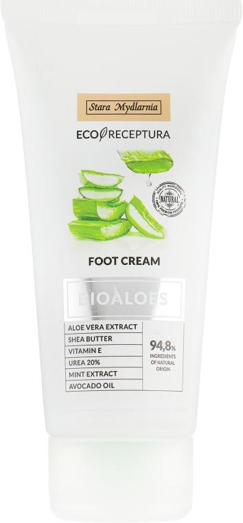 Питательный крем для ног с алоэ вера и маслом Ши - Stara Mydlarnia Bioaloes Foot Cream