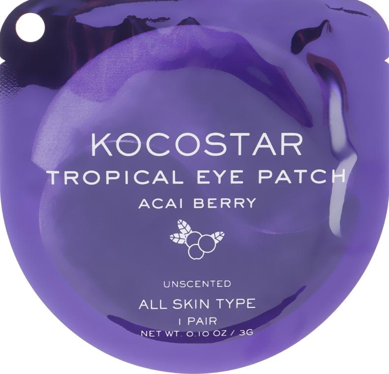 Гидрогелевые патчи с экстрактом ягод Асаи - Kocostar Tropical Eye Patch Acai Berry
