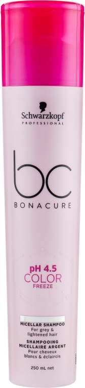 Нейтрализующий шампунь с фиолетовым оттенком - Schwarzkopf Professional BC Bonacure Ph 4.5 Color Freeze Silver Micellar Shampoo