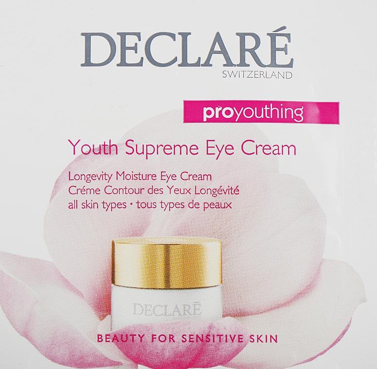 Крем от первых признаков старения для кожи вокруг глаз - Declare Pro Youthing Youth Supreme Eye Cream (пробник) — фото N1