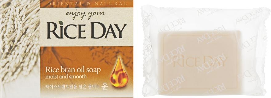 Мыло туалетное с экстрактом рисовых отрубей - CJ Lion Riceday