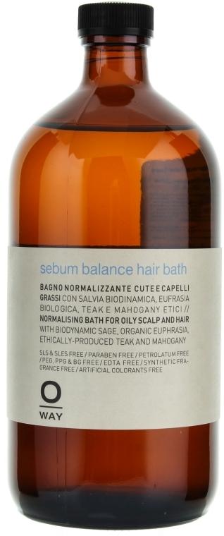 Шампунь для волос - Oway Sebum Balance Hair Bath — фото N1