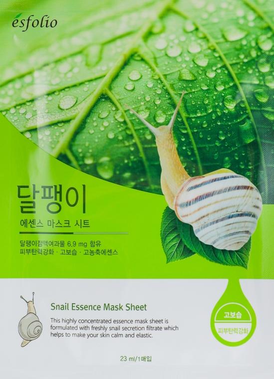 """Тканевая маска """"Фильтрат улитки"""" - Esfolio Essence Mask Sheet"""