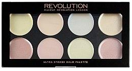 Духи, Парфюмерия, косметика Палетка кремовых хайлайтеров для стробинга - Makeup Revolution Ultra Strobe Balm Palette