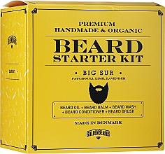 Духи, Парфюмерия, косметика Набор - Golden Beards Starter Beard Kit Big Sur (balm/60ml + oil/30ml + shm/100ml + cond/100ml + brush)