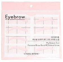 Духи, Парфюмерия, косметика Трафареты для бровей - Etude House My Beauty Tool Personal Brow Band №2 Natural Brow