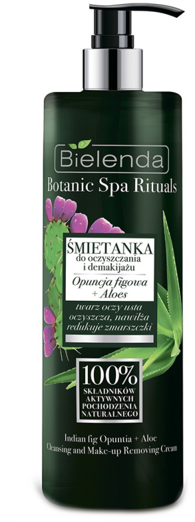 Крем для снятия макияжа с алоэ - Bielenda Botanic Spa Rituals Indian Fig Opuntia+ Aloe Cleansing and Make-up Removing Cream