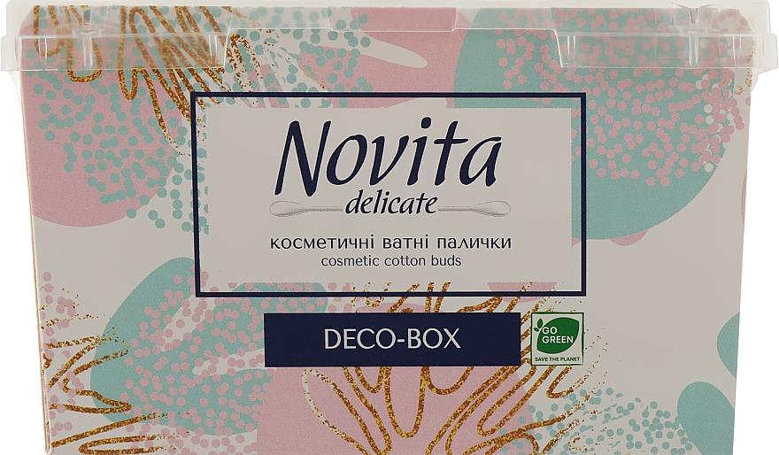 Косметические ватные палочки, в боксе, вариант 4 - Novita Delikate Cosmetic Cotton Buds Deco-box